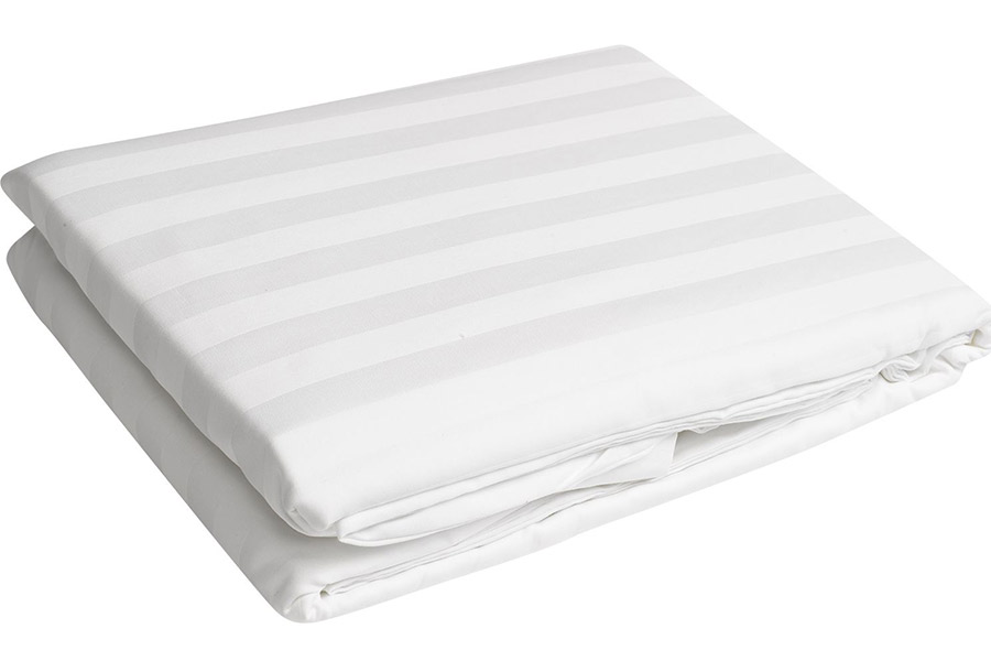 Stripped fitted bed sheet Per Piece